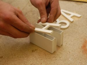 Изготовление объемных несветовых букв в Харькове