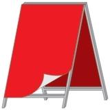 Штендер А-образный баннерный