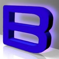 Непрозрачные буквы с контражурной подсветкой глубиной 20-30 мм (код БС-03)