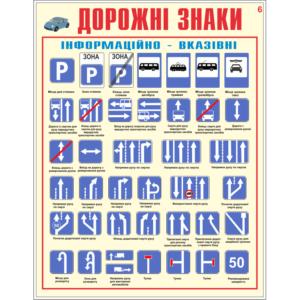 Стенд Дорожні знаки, інформаційно-вказівні (93012)