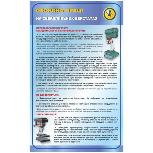 Стенд Охорона праці на свердлильних верстатах (95002.1)