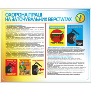 Стенд Охорона праці на заточувальних верстатах (95021)