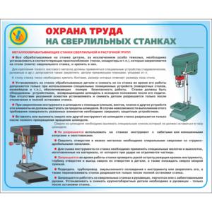 Стенд Охрана труда на сверлильных станках (95022)