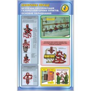Стенд Безпечна експлуатація газорегуляторних пунктів, основне обладнання (95025)