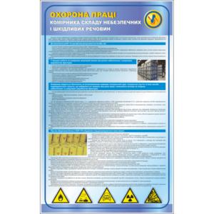 Стенд Охорона праці комірника складу небезпечних і шкідливих речовин (95037)