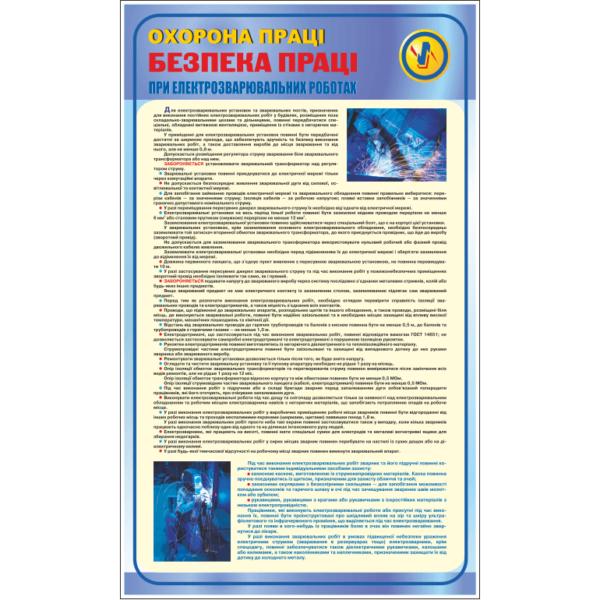 Стенд Безпека праці при електрозварювальних роботах (95049)