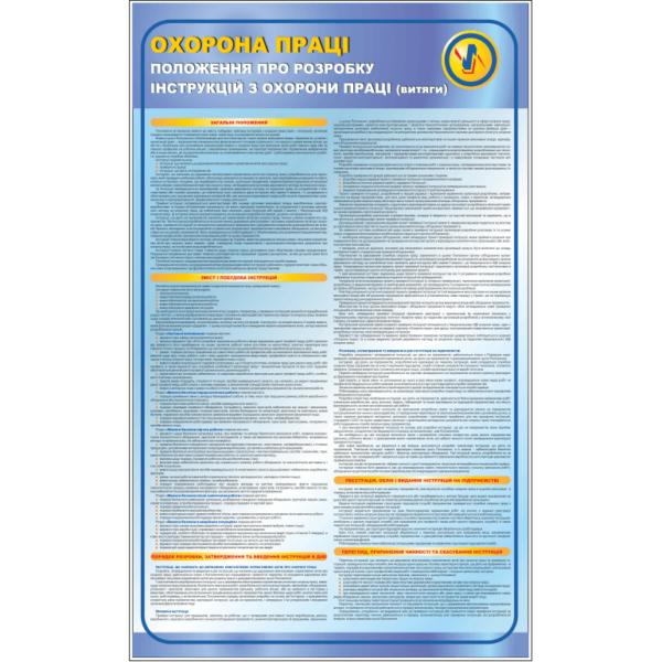Стенд Положення про розробку інструкцій з охорони праці (95062)