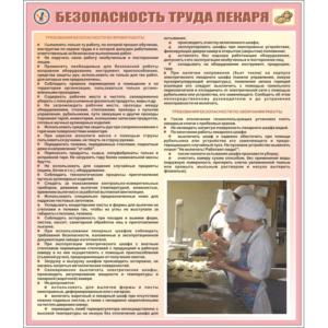 Стенд Безопасность труда пекаря (95071)
