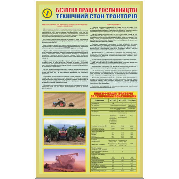 Стенд Безпека праці у рослинництві - технічний стан тракторів (95096)