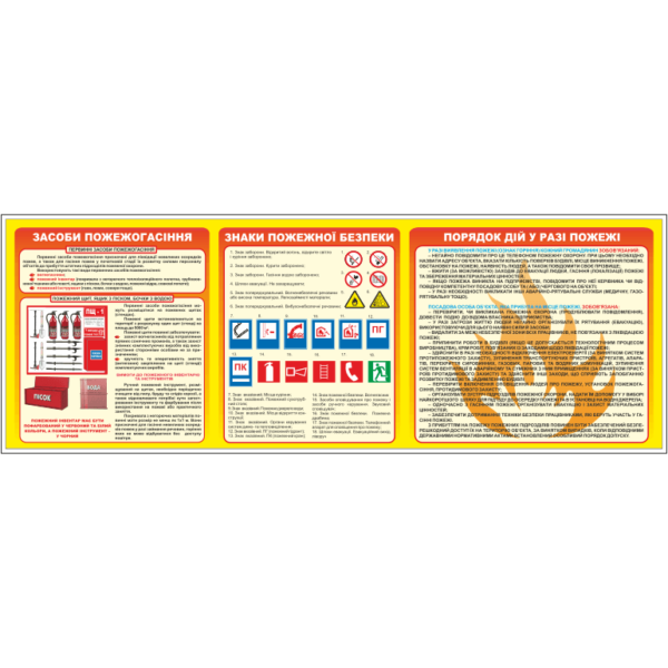 Стенд з пожежної безпеки (96002)