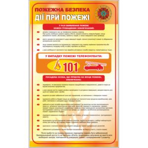 Стенд Пожежна безпека, дії при пожежі (96009)