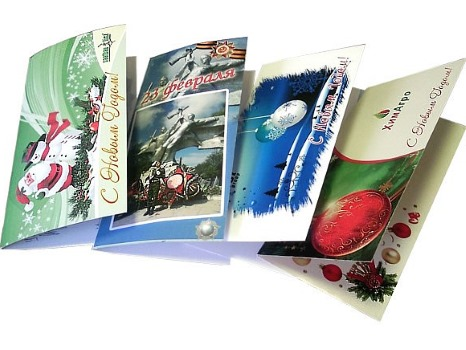 Печать брендированных открыток в Харькове